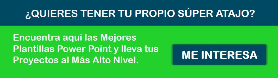 Banner Comprar Plantillas Powerpoint Azul y Verde