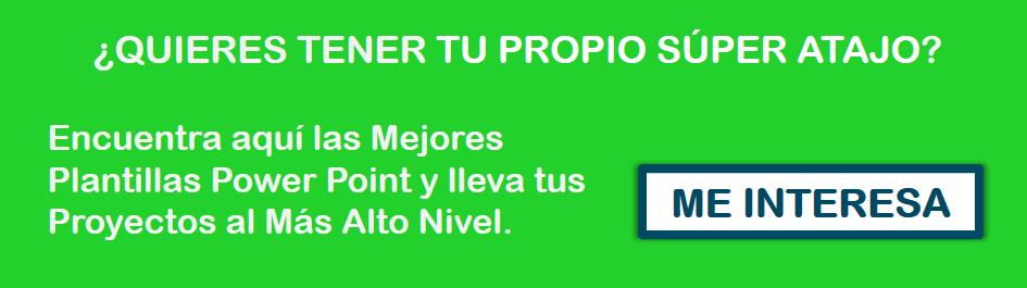 Banner Comprar Plantillas Powerpoint Verde