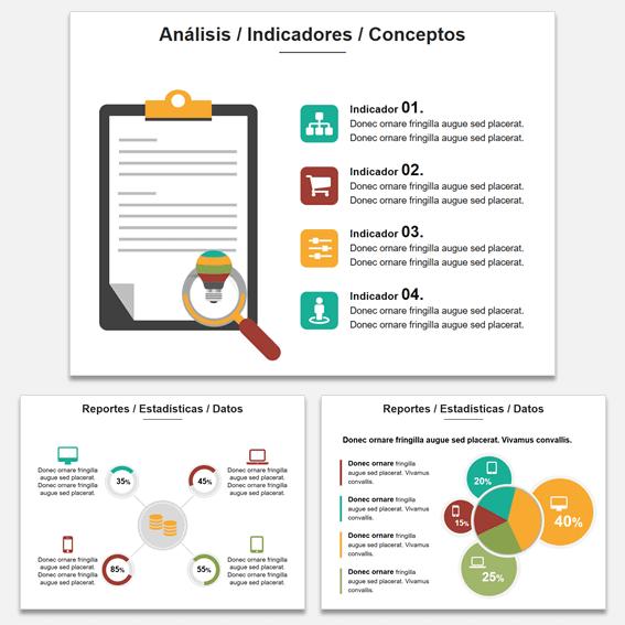 Ejemplo de Diseño de Presentaciones Comercial mostrando datos y gráficos