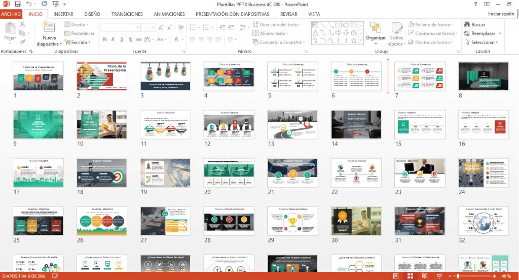 Hacer presentaciones creativas ejemplo business