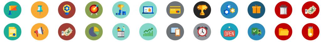 Iconos Redondos para Presentaciones Powerpoint