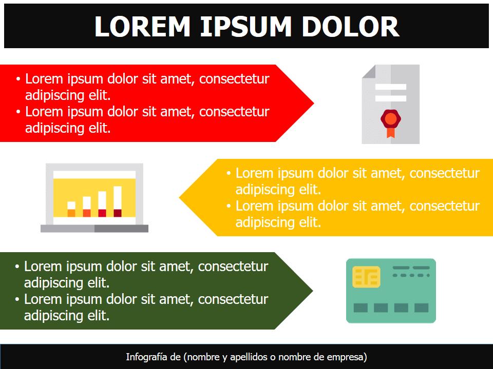 Plantillas infográficas para presentaciones powerpoint