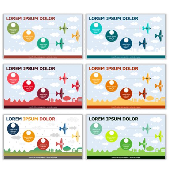 plantillas infografias ppt colores