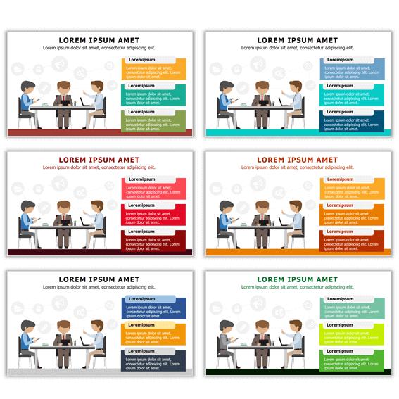 infografías con esquemas de colores