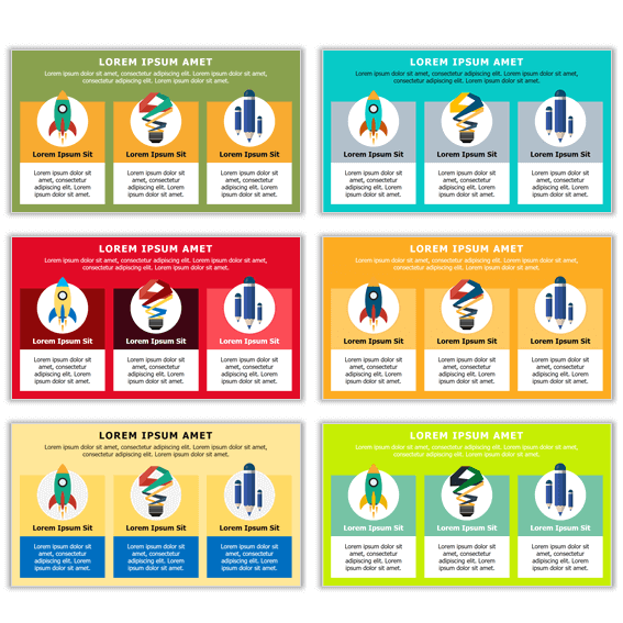 versiones colores plantillas power point de infografías