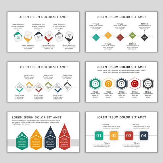 Plantillas Power Point Diagramas Líneas de Tiempo o Timeline
