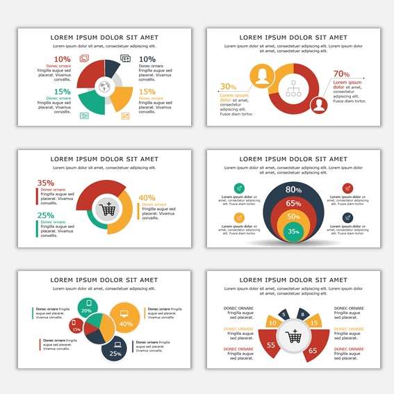 Tendencias de diseño de presentaciones con diagramas de gráficos