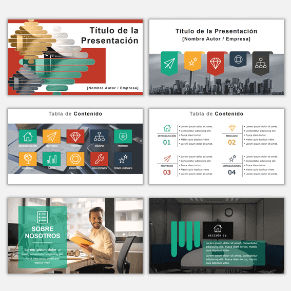 Plantillas de Power Point para Presentaciones Business 2 con ejemplos de presentaciones creativas powerpoint