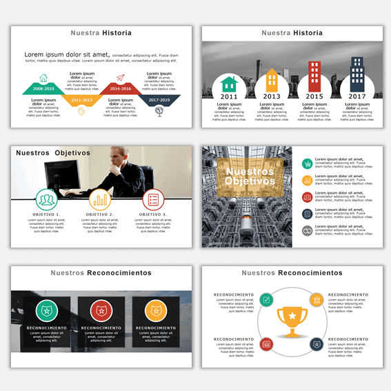 Plantillas de Power Point para Presentaciones Business 1 con ejemplos de presentaciones creativas powerpoint