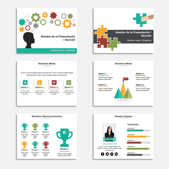 Plantillas para Presentaciones en Power Point Modelo Star
