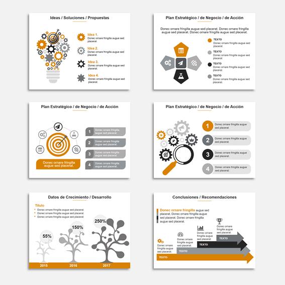 Plantillas para Presentaciones en Power Point Modelo Star Amarillo como ejemplos de combinaciones de colores para presentaciones