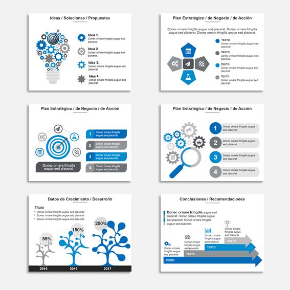 Plantillas Power Point para Presentaciones Modelo Star Azul1 como ejemplos de combinaciones de colores para presentaciones