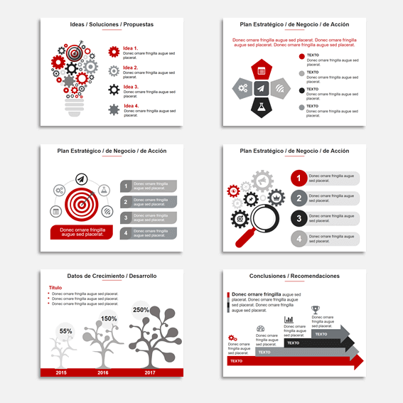 Plantillas para Presentaciones en Power Point Modelo Star Rojo