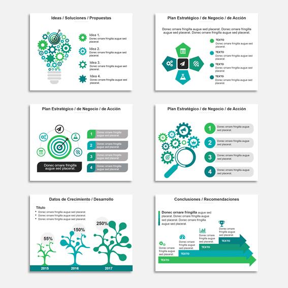 Plantillas Power Point para Presentaciones Modelo Star VerdeAzul como ejemplos de combinaciones de colores para presentaciones
