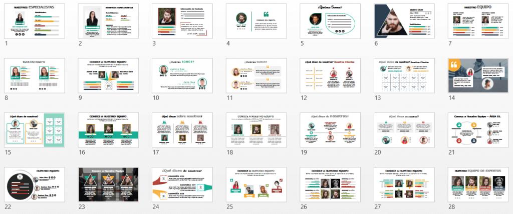 Plantillas PPT Organigramas y Estructura de Empresa