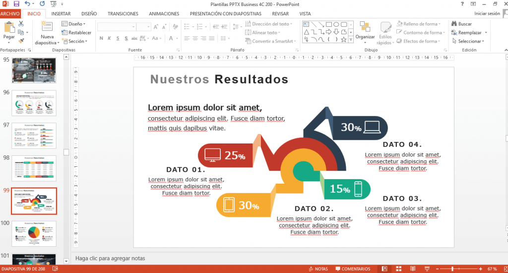 Funciones y recursos para presentaciones powerpoint profesionales de empresa
