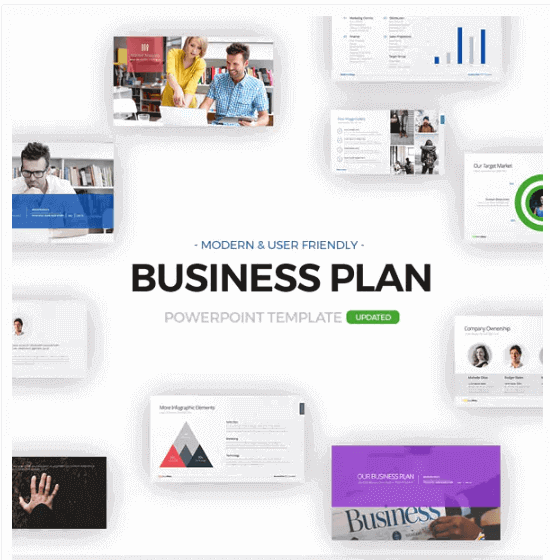 Plantillas Power Point para Presentaciones Creativas Envato BUSINESS PLAN